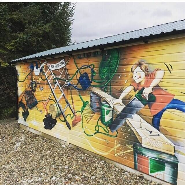 """Picture of """"Shed Mural"""""""